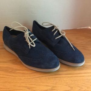 Cole Haan Lunargrand Blue Suede Shoes Size 10C